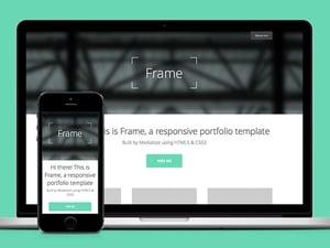 Frame - Responsive Portfolio HTML5 Template 1
