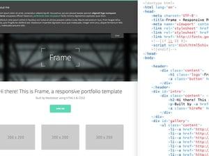 Frame - Responsive Portfolio HTML5 Template 2