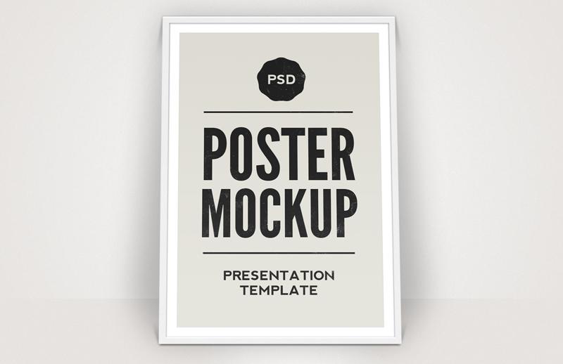 Framed Poster Mockup Template 1
