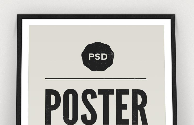 Framed Poster Mockup Template 2