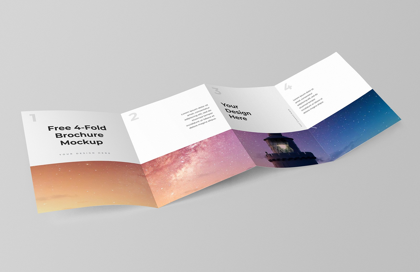 Free 4 Fold Brochure Mockup Preview 1