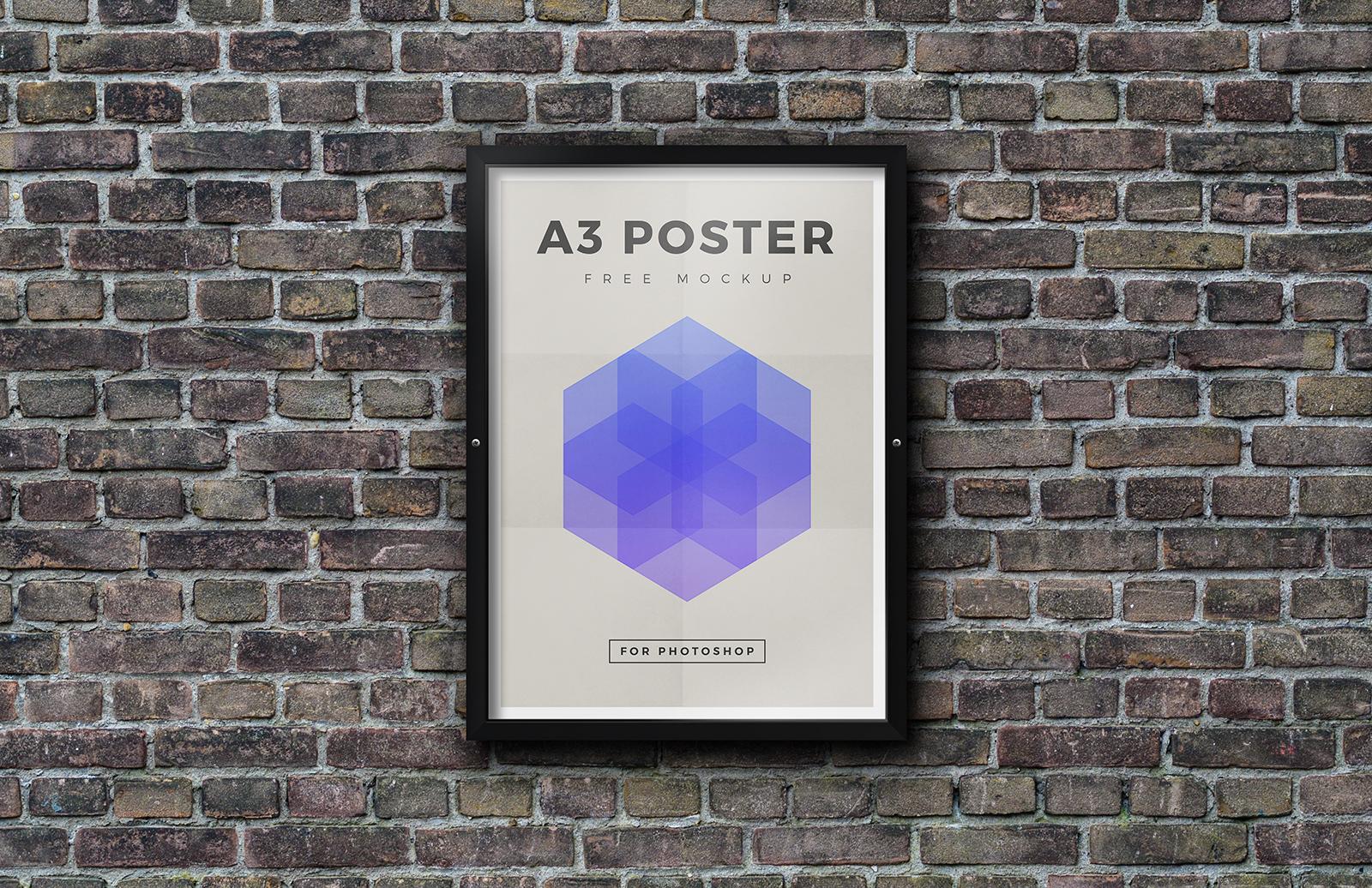 Free Outdoor Framed Poster Mockup
