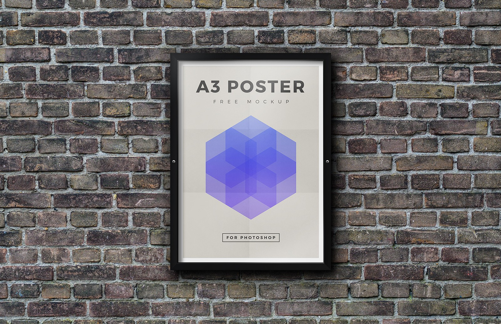 Free Outdoor Framed Poster Mockup