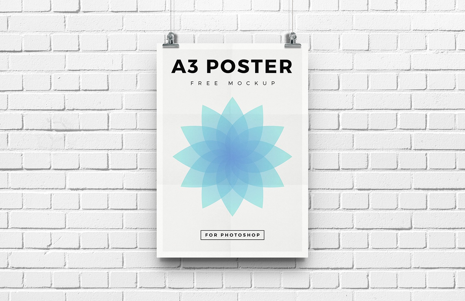 Free A3 Poster Mockup 1