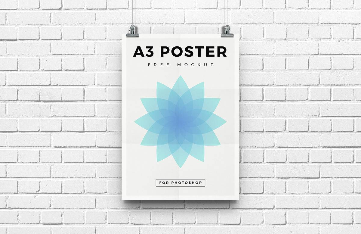Free A3 Poster Mockup Preview 1