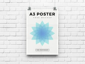 Free A3 Poster Mockup 1