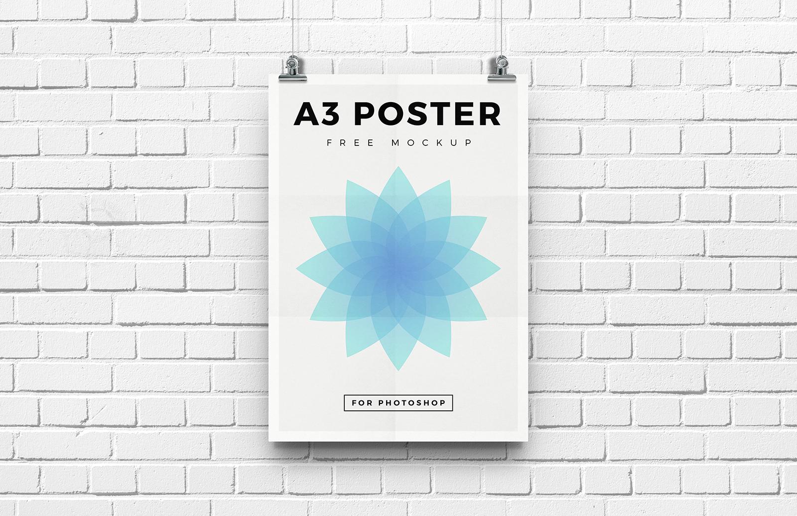 Free A3 Poster Mockup