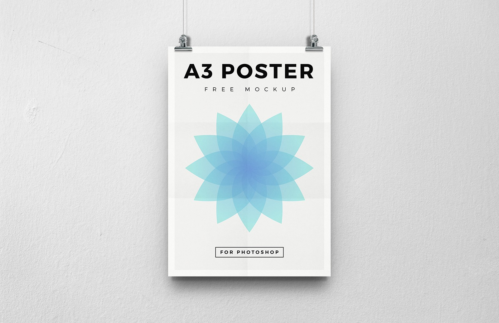 Free A3 Poster Mockup 2