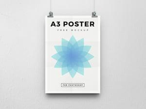 Free A3 Poster Mockup 2
