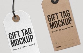 Free Gift Tag Mockup