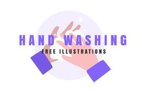 Free Hand Washing Vector Illustrations