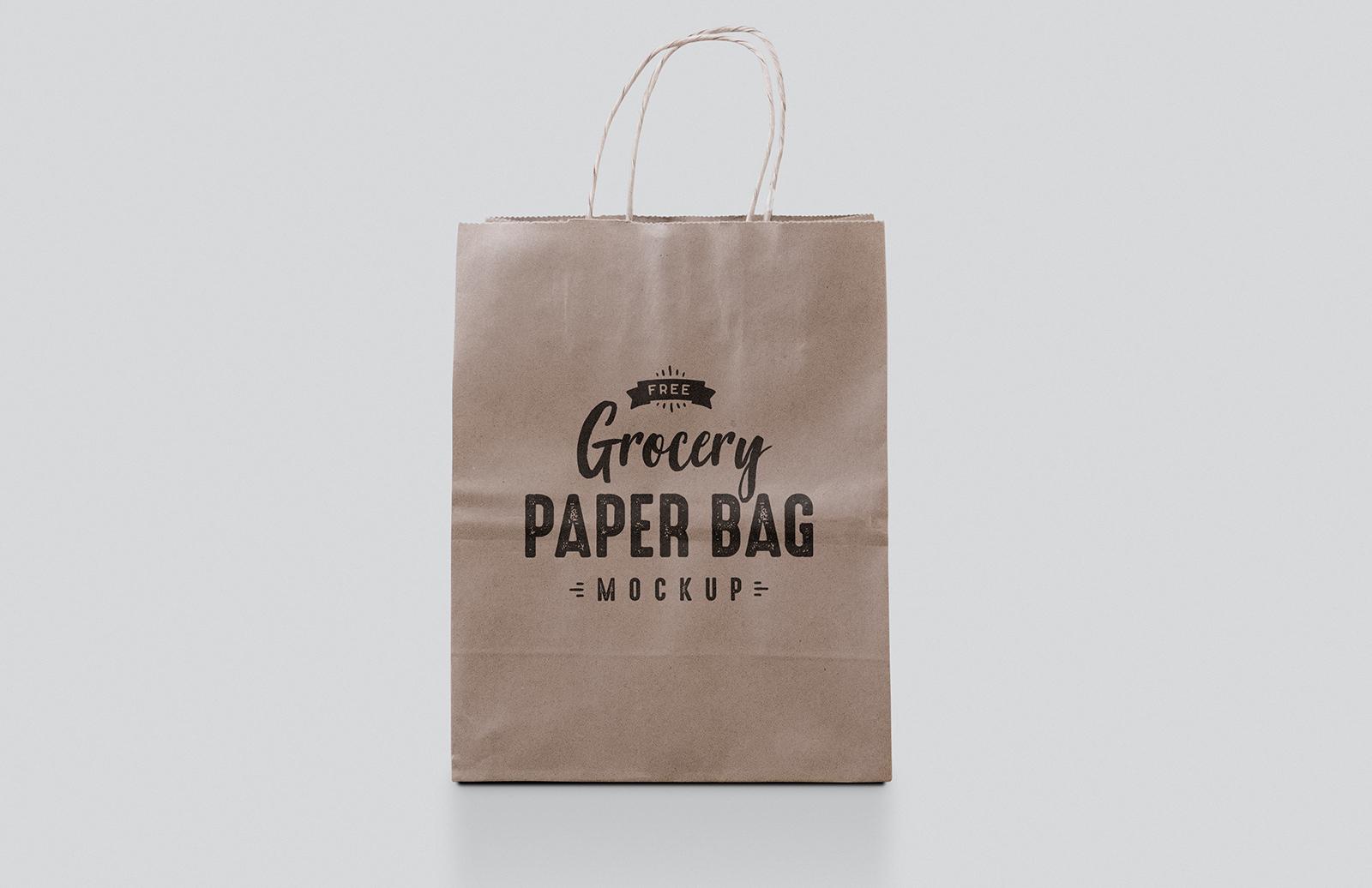 Free Paper Bag Mockup — Medialoot