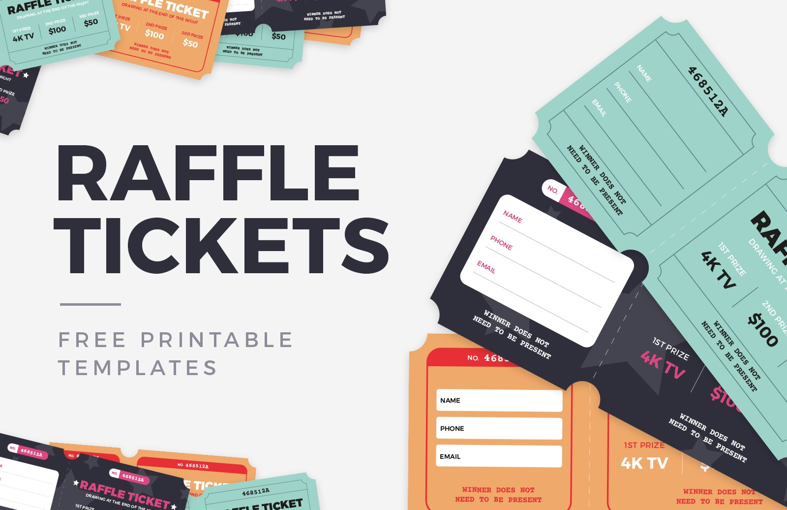 Free Raffle Ticket Templates Preview 1
