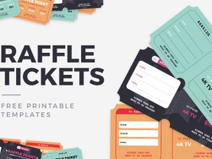 Free Raffle Ticket Templates 1
