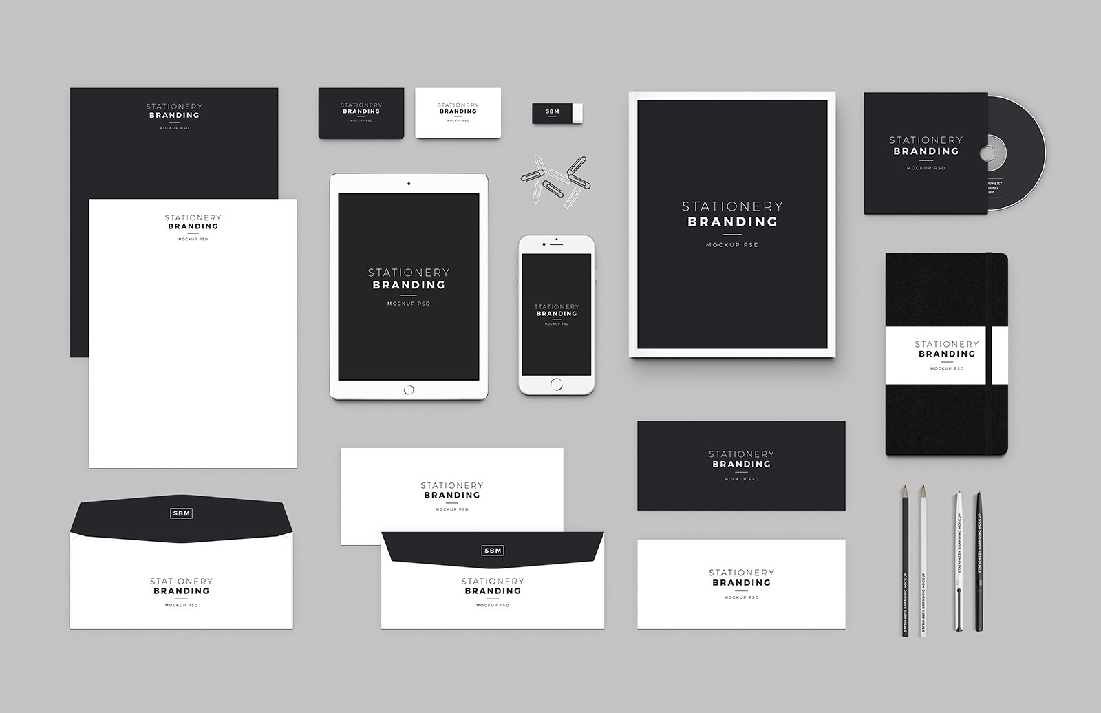 Free Stationery Branding Mockup Pack
