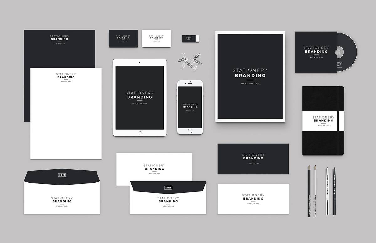 Free Stationery Branding Mockup Preview 1