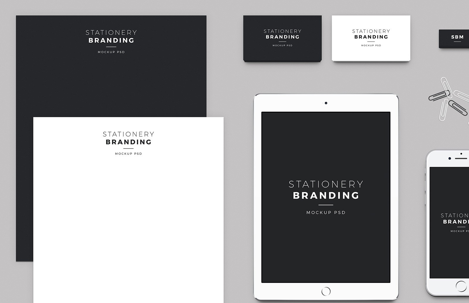 Free Stationery Branding Mockup Pack 2