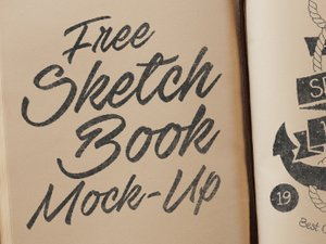 Free Sketchbook Mockup PSD 1