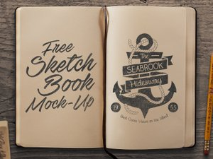 Free Sketchbook Mockup PSD 2
