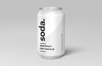 Free Soda Can Mockup