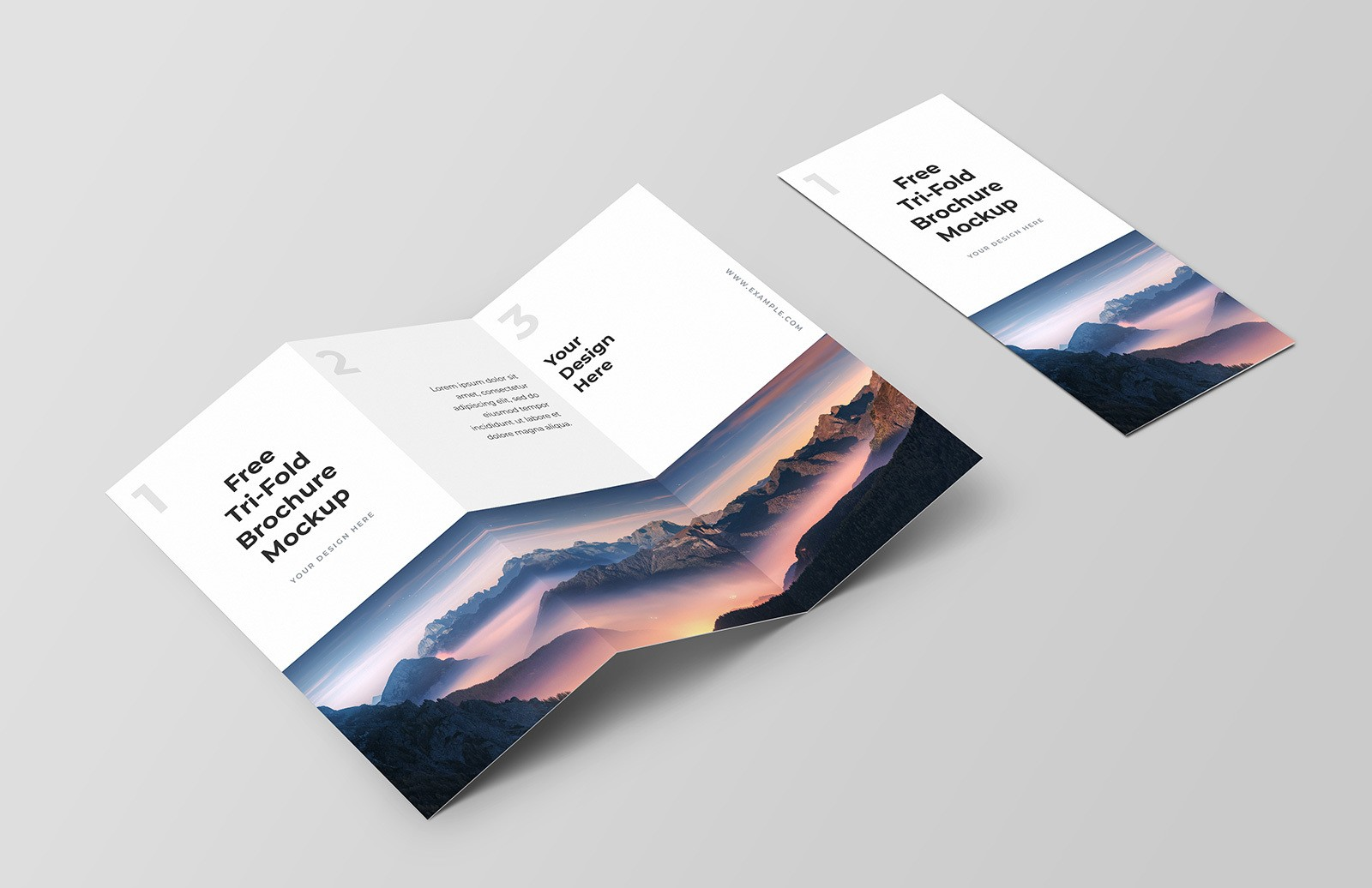 Free Trifold Brochure Mockup Preview 1