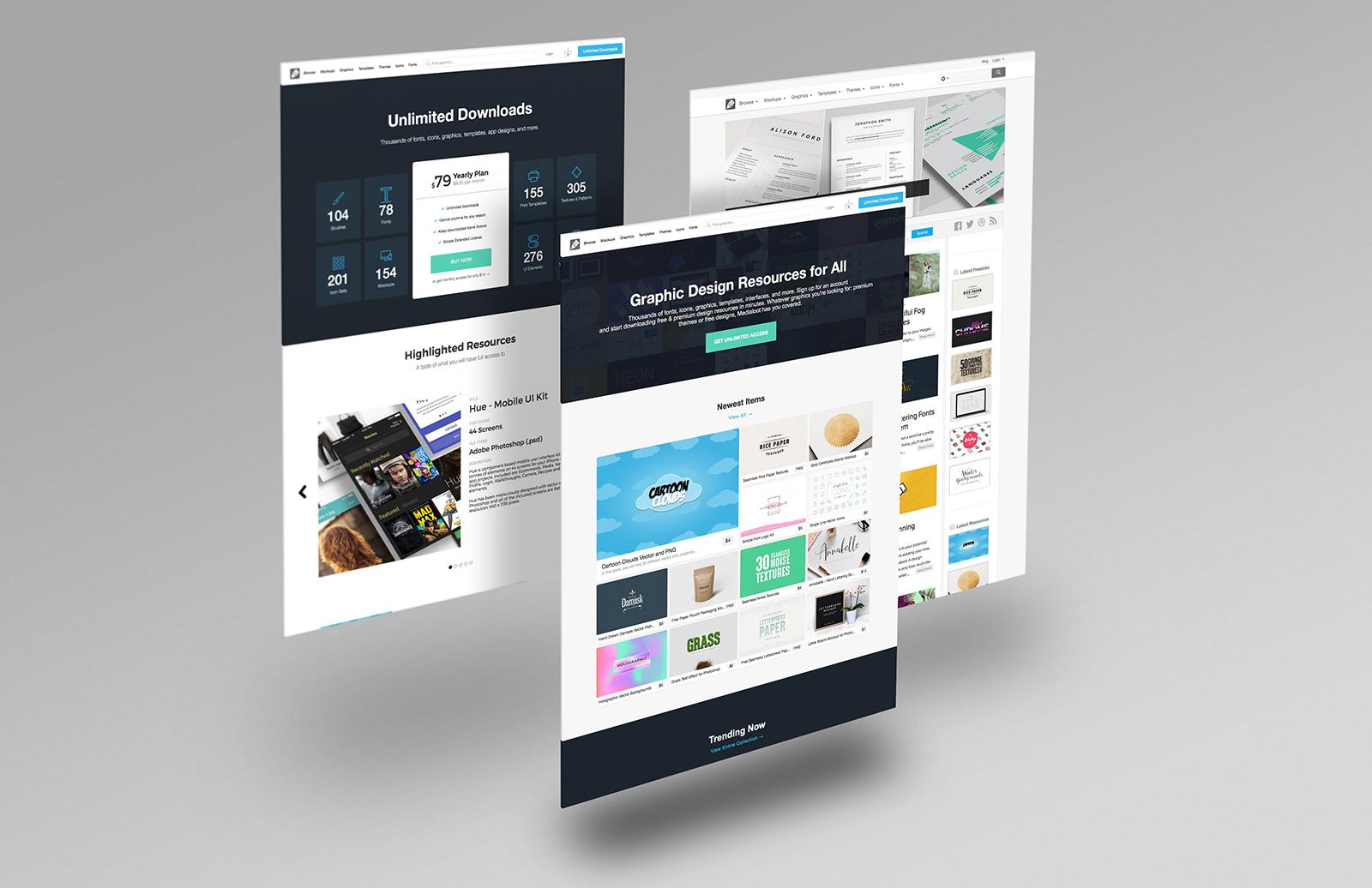 Free Website Mockup Pack