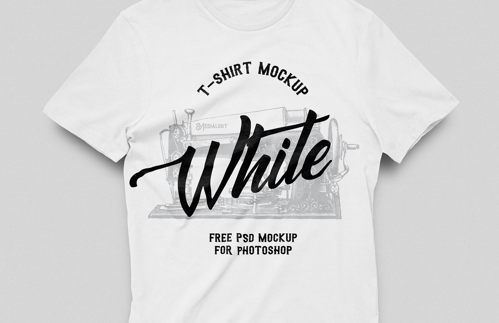 Free White T-Shirt Mockup