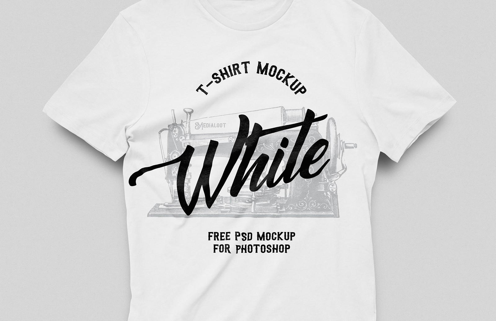 Free White T Shirt Mockup Preview 1A