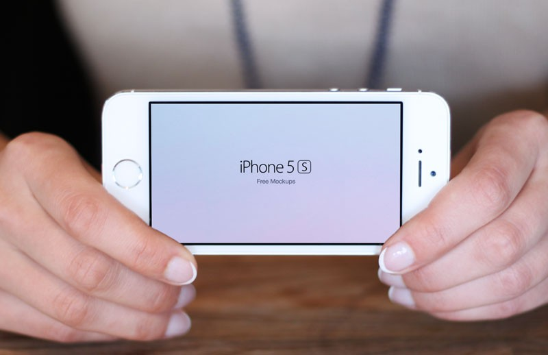 Large Free I Phone 5 S  In  Hand  Mockups 800X518 5