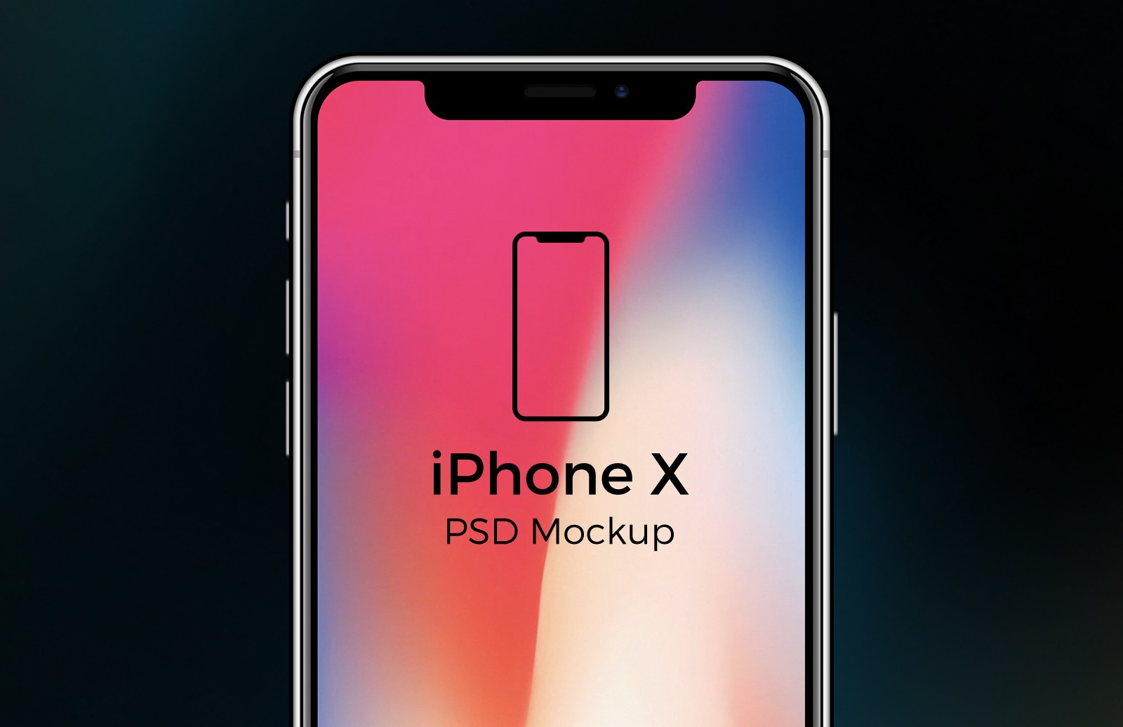 Free iPhone X + iPhone 8 PSD Mockups 1