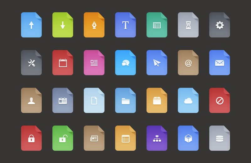 Large Free  Flat  Filetype  Icons 800X518 1