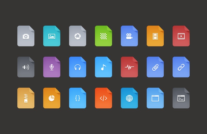Large Free  Flat  Filetype  Icons 800X518 2