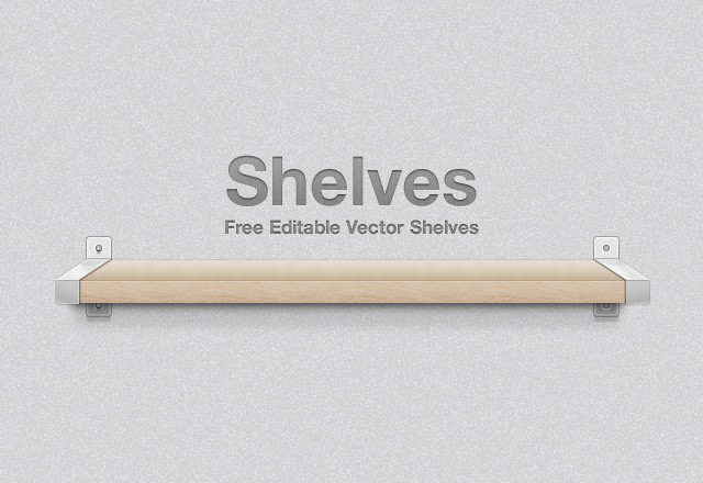 Large Free  Vector  Shelves  Preview1