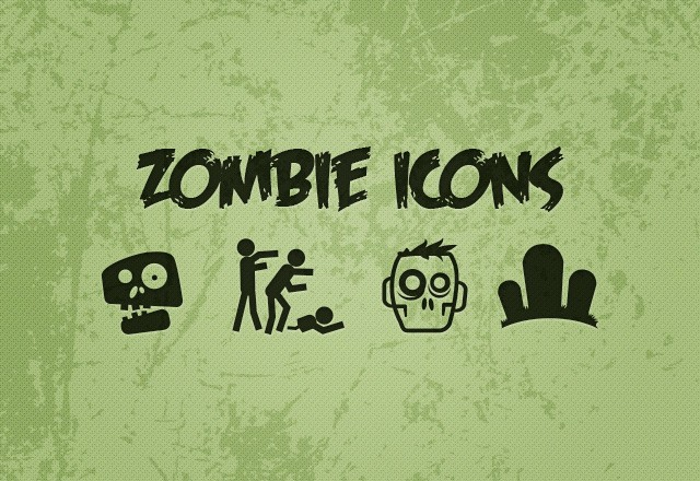 Large Free  Vector  Zombie  Icons  Preview1