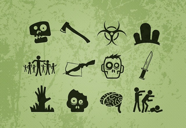 Large Free  Vector  Zombie  Icons  Preview2