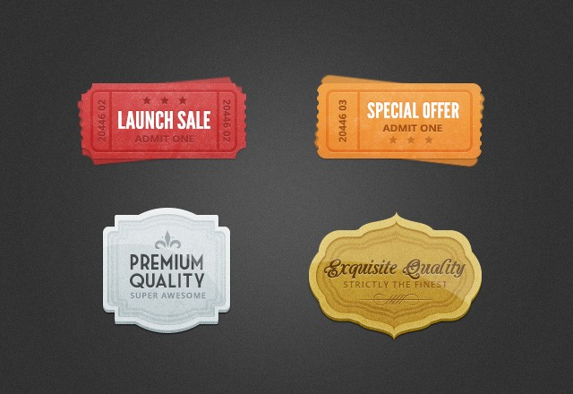 Large Free  Web  Badges   Elements  Preview4