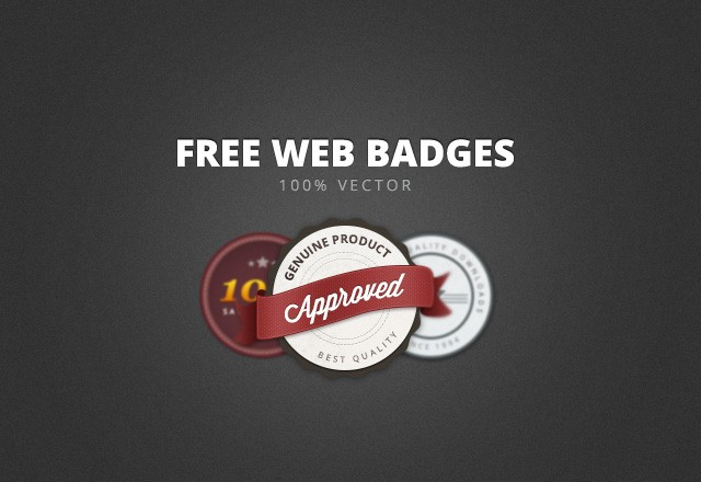 Large Free  Web  Badges   Elements  Preview1
