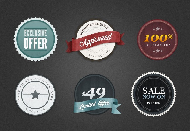 Large Free  Web  Badges   Elements  Preview2