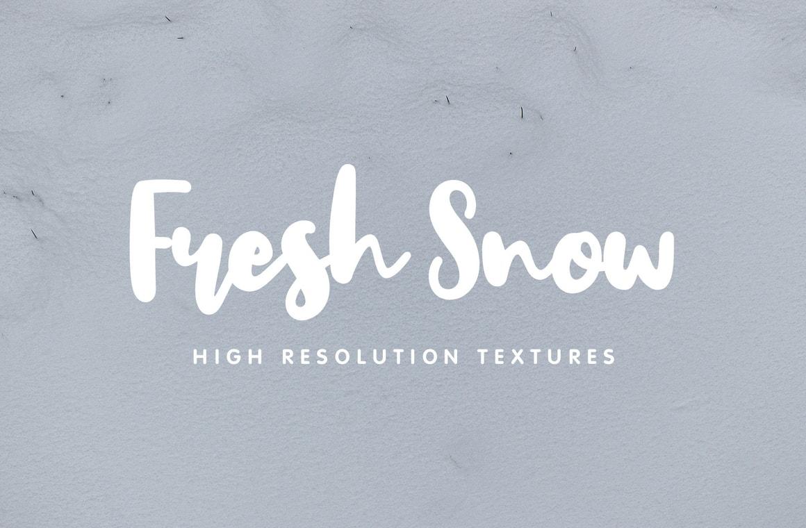 Fresh Snow Textures