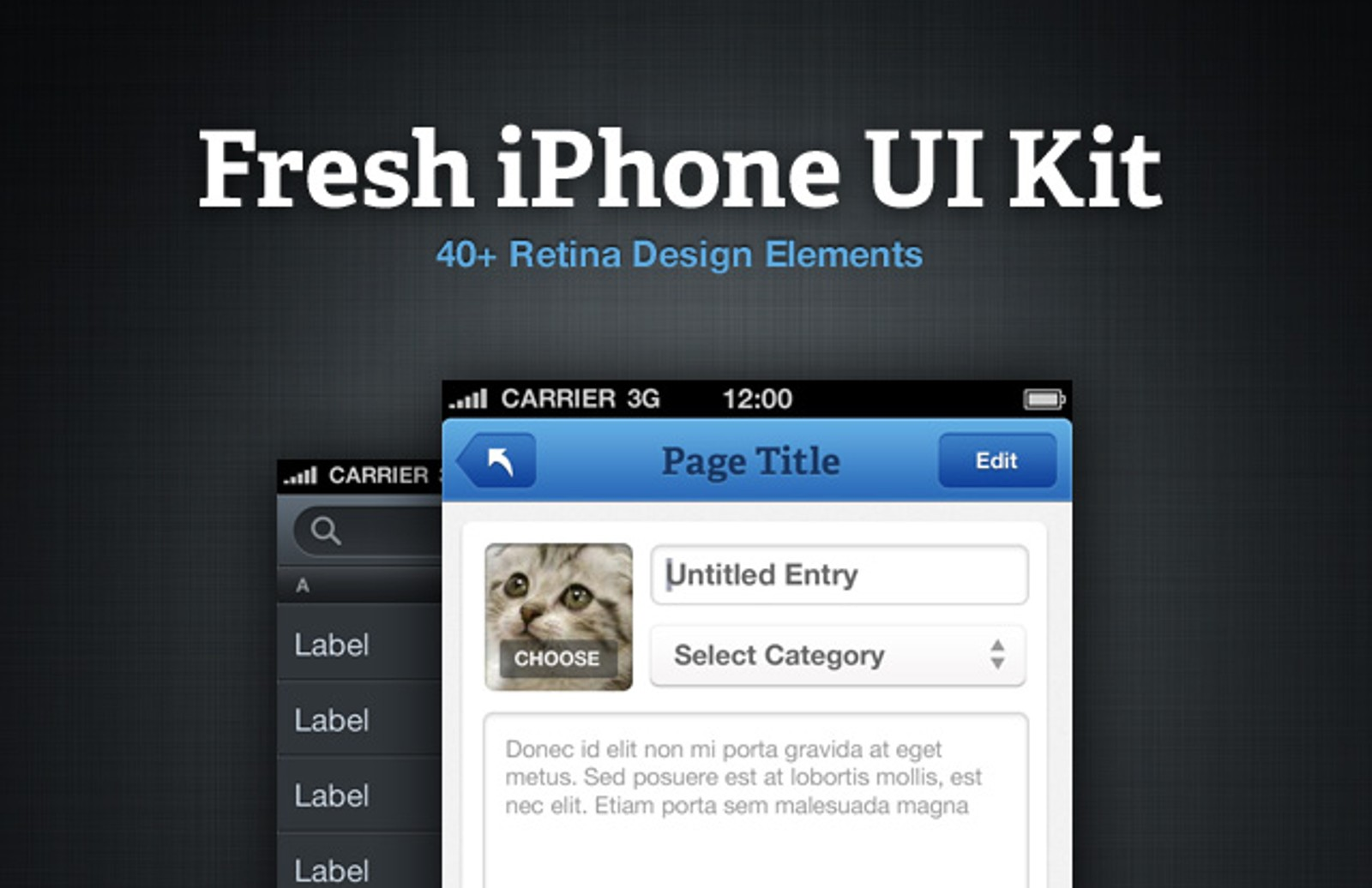 Fresh I Phone  Ui  Kit  Preview11
