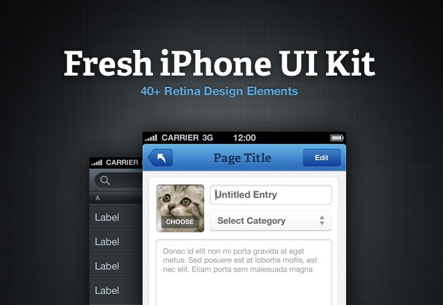 Fresh iPhone UI Kit