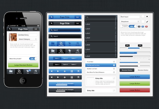 Large Fresh I Phone  Ui  Kit  Preview2