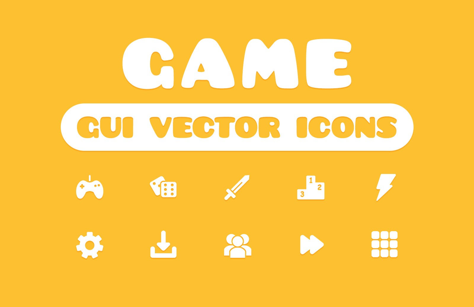 Game GUI Vector Icons