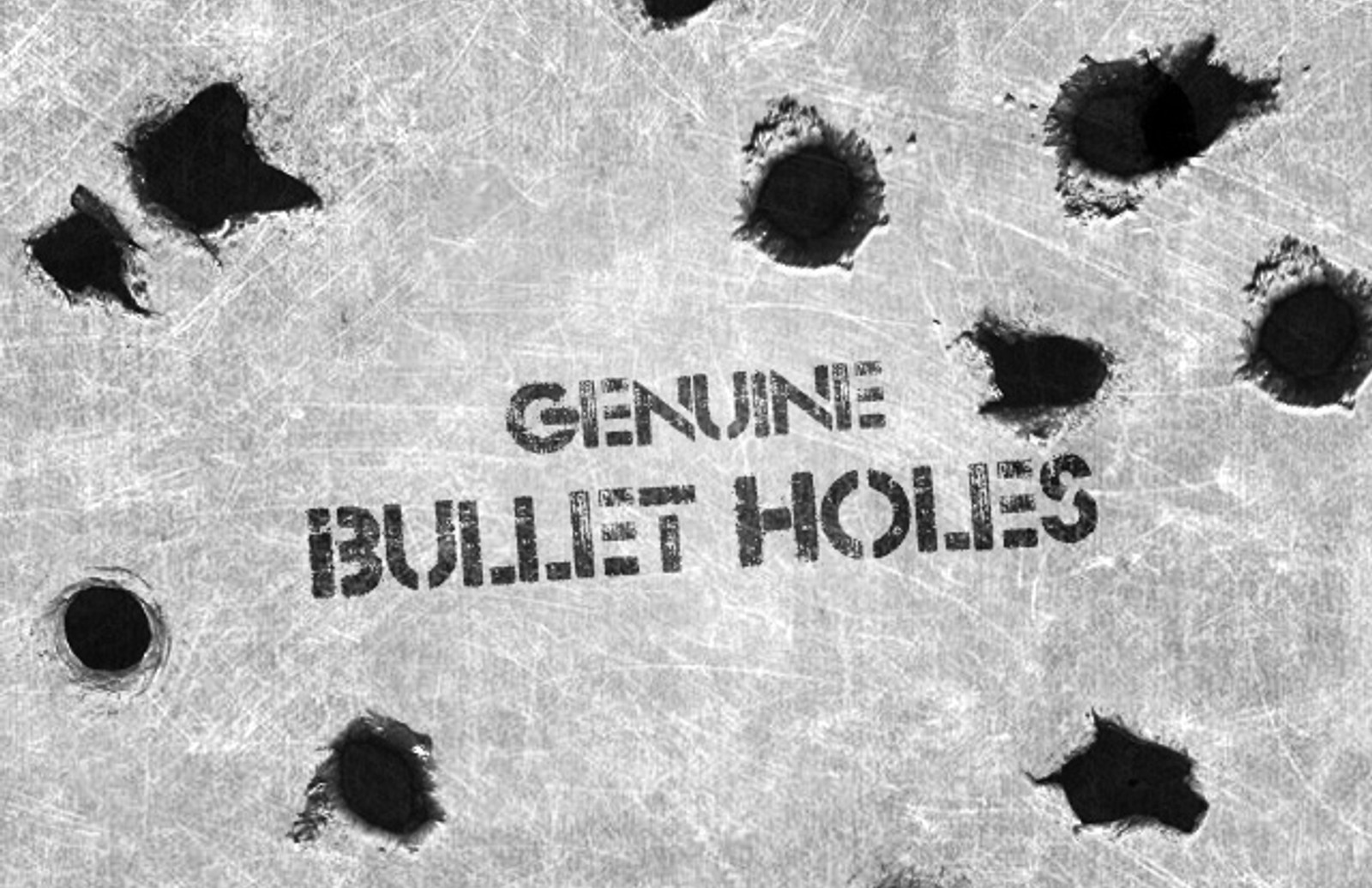 Genuine Bullet Hole Brushes Medialoot