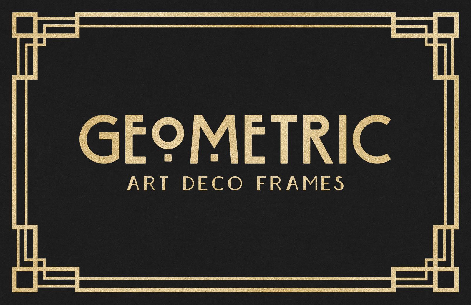 geometric art deco frames � medialoot