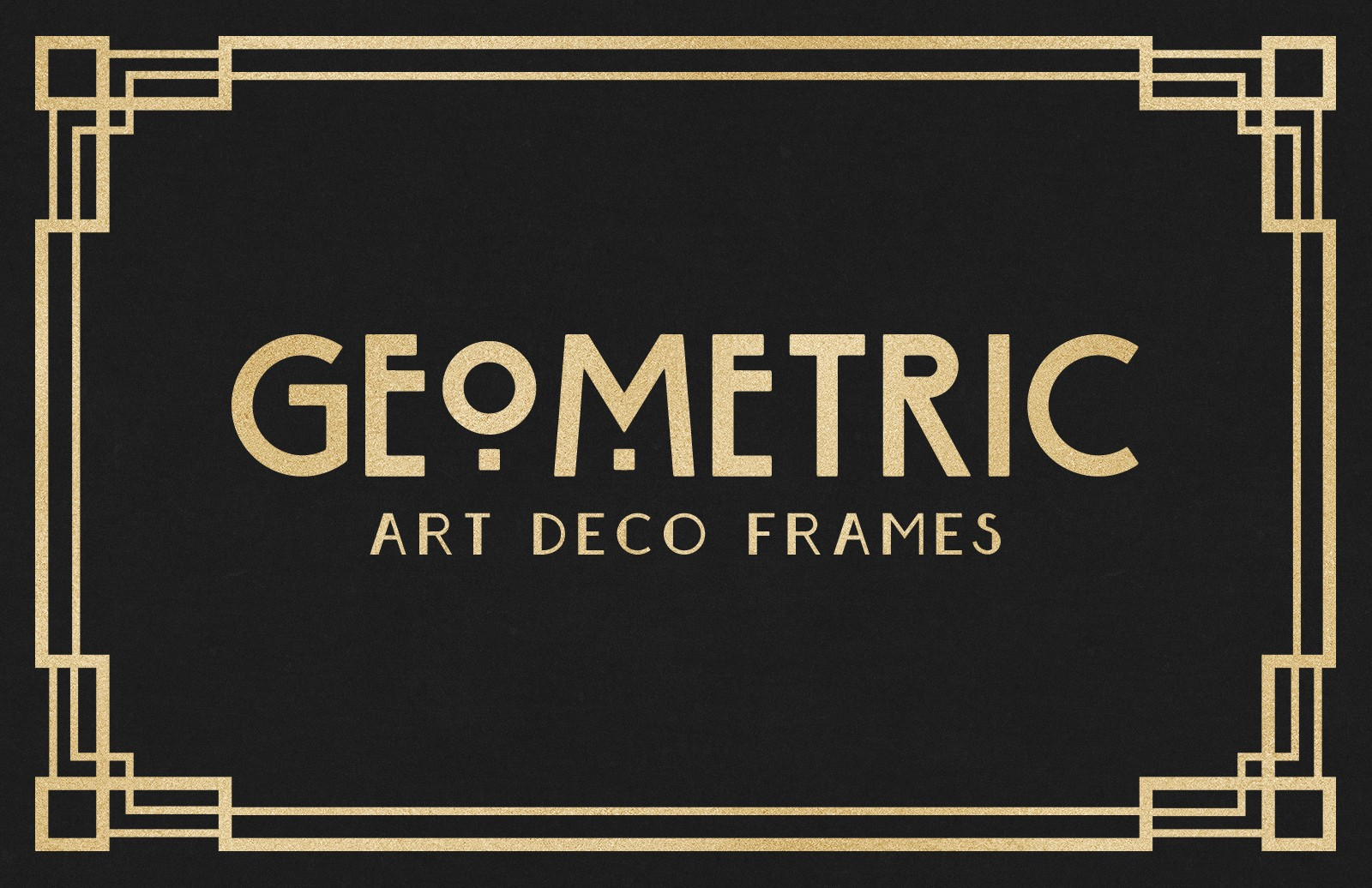 Geometric Art Deco Frames 2 Preview 1