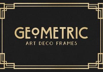 Geometric Art Deco Frames