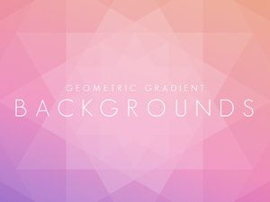 Geometric Gradient Backgrounds 1