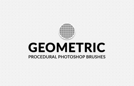 Geometric Procedural Photoshop Brushes