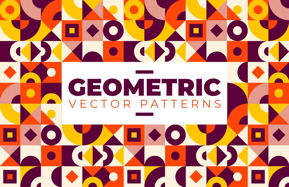 Geometric Vector Patterns Preview 1
